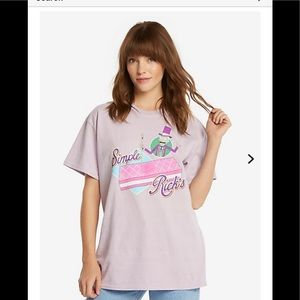 🚀 Rick and Morty simple Rick  lilac T-shirt' new